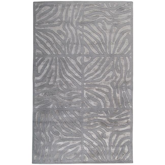 Candice Olson Hand-tufted Grey Zebra Animal Print Divine