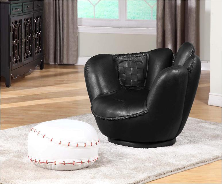 Baseball Swivel Chair W Ottoman 13453231 Overstock