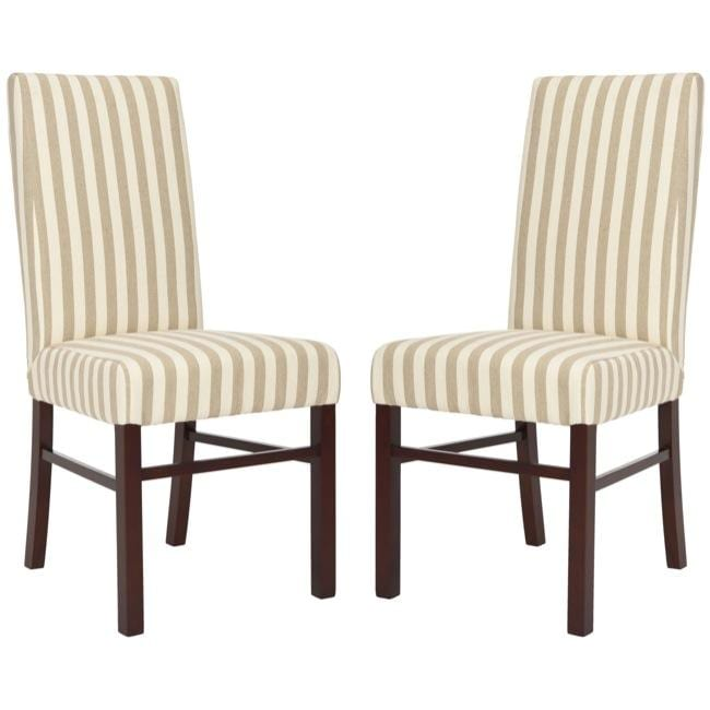 Striped Dining Room Chairs: Safavieh Parsons Dining Parsons Stripe Linen Side Chairs