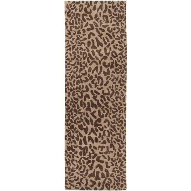 Animal Print Rugs Nz: Hand-tufted Tan Leopard Whimsy Animal Print Wool Rug (2'6