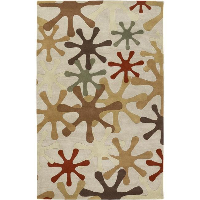 Hand Tufted Whimsy Off White Wool Rug 10 X 14