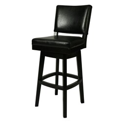 Augusta Black Wood Swivel Bar Stool 13420900 Overstock