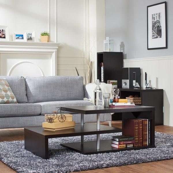 Furniture Of America Modern Multi Leveled Coffee Table