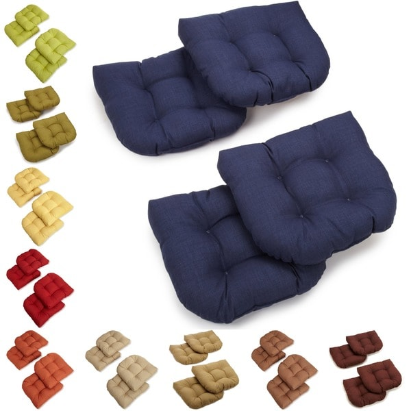 All Weather U Shaped Tufted Outdoor Chair Cushions Set Of