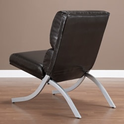 Rialto Brown Bonded Leather Chair 13480517 Overstock