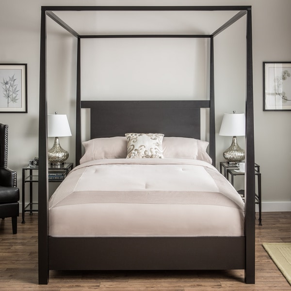 Napa Queen Size Black Canopy Bed 80004026 Overstock