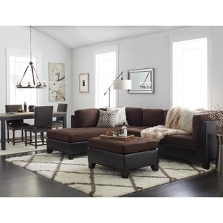 Papasan Two Piece Sectional Sofa 13618717 Overstock