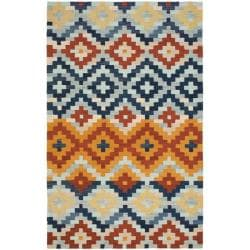 Safavieh Hand-hooked Chelsea Southwest Multicolor Wool Rug - 3'9 x 5'9 - Thumbnail 0