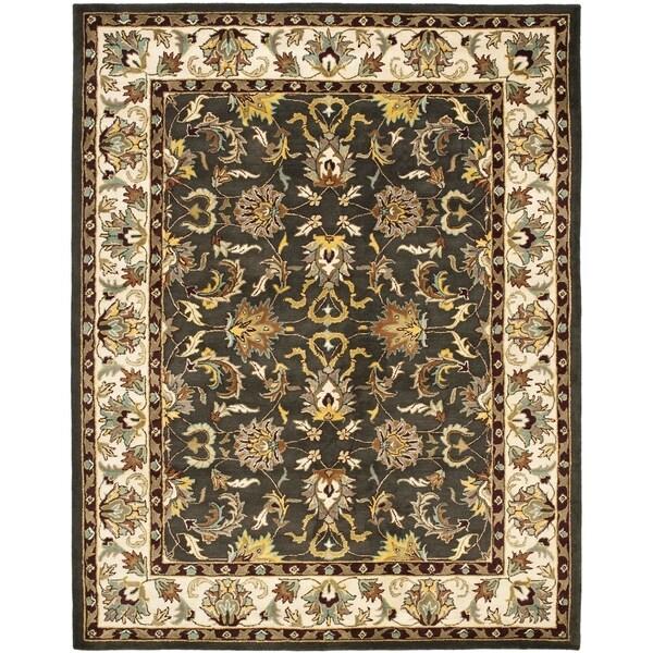 Safavieh Handmade Heritage Mahal Black Ivory Wool Rug 7