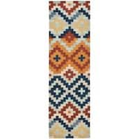 Safavieh Hand-hooked Chelsea Southwest Multicolor Wool Runner (2'6 x 6') - 2'6 x 6'