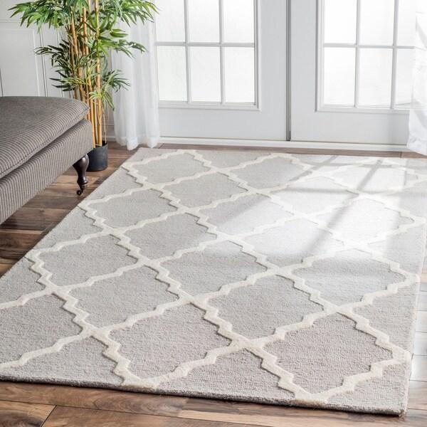 NuLOOM Handmade Alexa Moroccan Trellis Wool Area Rug (5' X