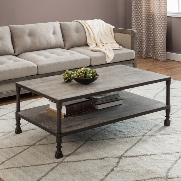 Renate Brown Grey Coffee Table 13506140 Overstock Com