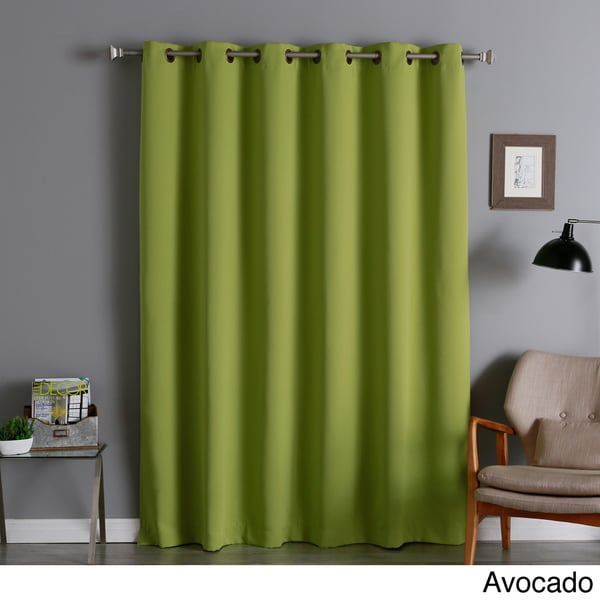 Aurora Home Wide Thermal 80 Inch Width Blackout Curtain Panel