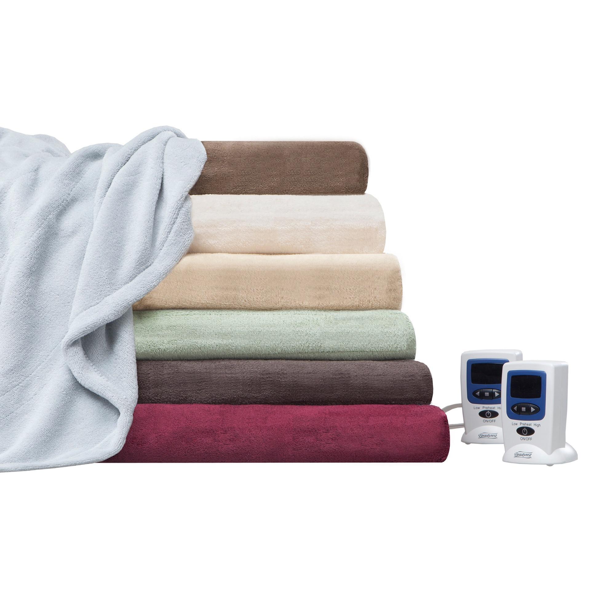Beautyrest Cozy Plush Heated Electric Blanket Ebay