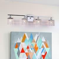 Four-light Chrome/ Crystal Wall Sconce