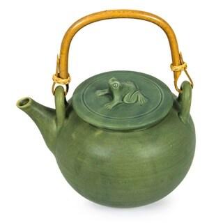 Ceramic Frog Song Teapot Indonesia 13550554