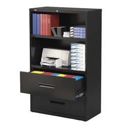 Hirsh Hl5000 Series 36 Inch Wide 2 Drawer 2 Shelf Lateral File Cabinet Overstock Shopping
