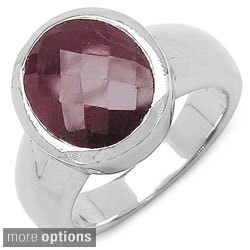 De Buman Sterling Silver Natural Ruby Or Sapphire