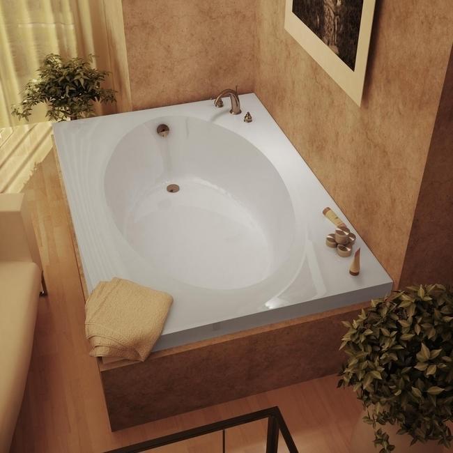 Vogue 60 X 42 White Soaker Tub 13589422 Overstock Com
