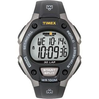 Timex Men's Ironman Classic 30 Grey/ Black Resin Strap Watch - Grey/Black