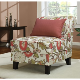 Coral Floral Slipper Chair Overstock Shopping Great