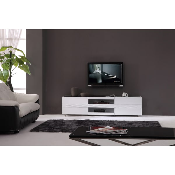 Firenze White Two Drawer Modern Tv Stand 13605370