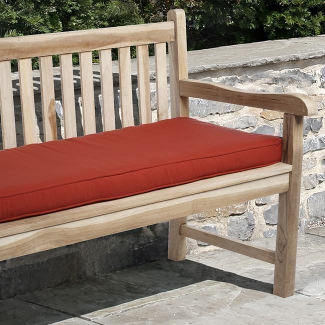 Sunbrella Red Outdoor 48 X 19 Inch Bench Cushion