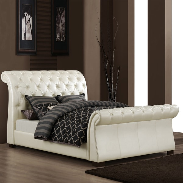 Stylish Soft White King Storage Sleigh Bed Bedroom: Share: