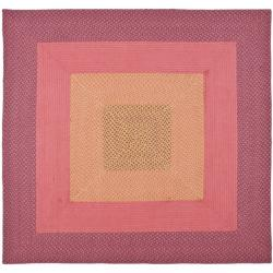 Safavieh Hand Woven Reversible Pink Braided Rug 6 Square