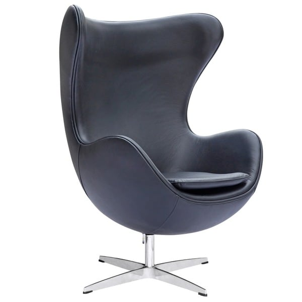 Leather Egg Chair 13652467 Overstock Com Shopping
