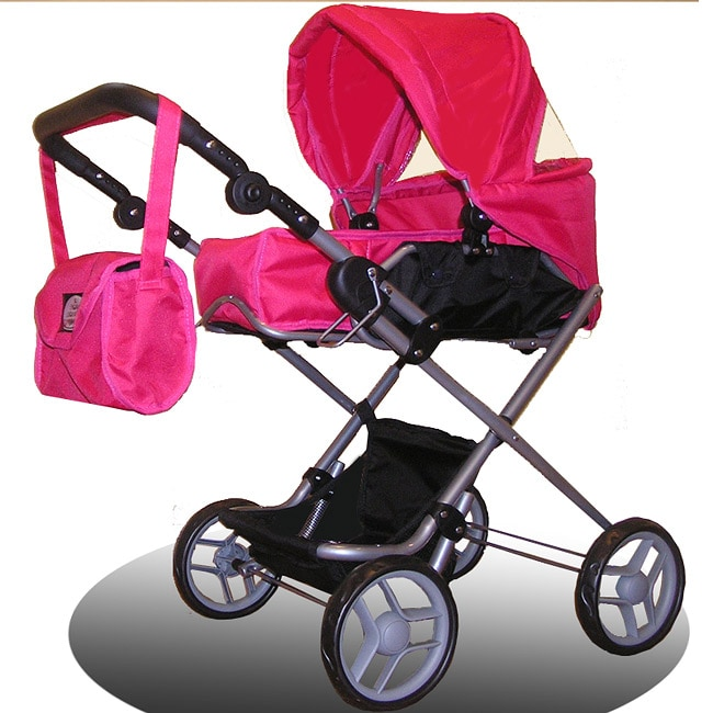 Bassinet 3-1 Chevron Doll Stroller with Carriage Bag ...