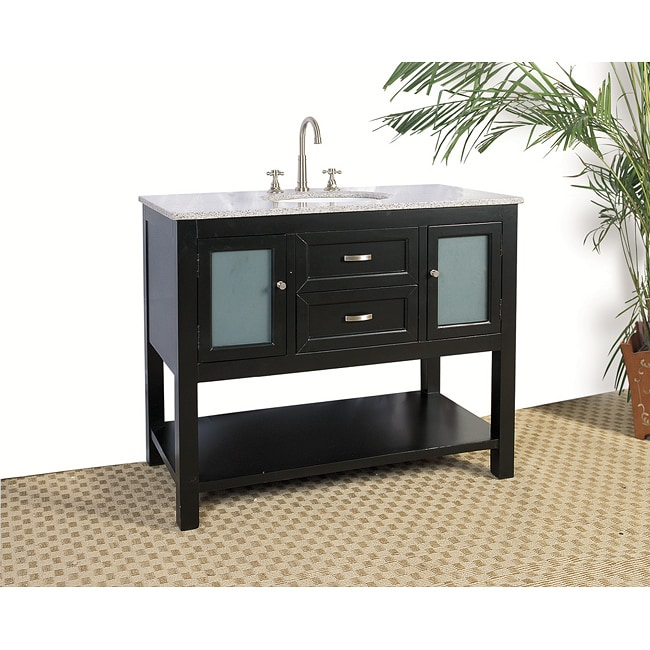 Granite Top 42-inch Single Sink Bathroom Vanity - 13662568 ...