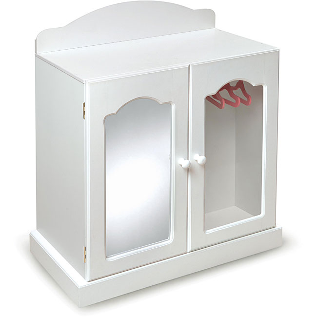 Badger Basket Mirrored Doll Armoire Set - 13662736 ...