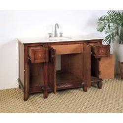 Marble Top 53 Inch Single Sink Bathroom Vanity 13664139
