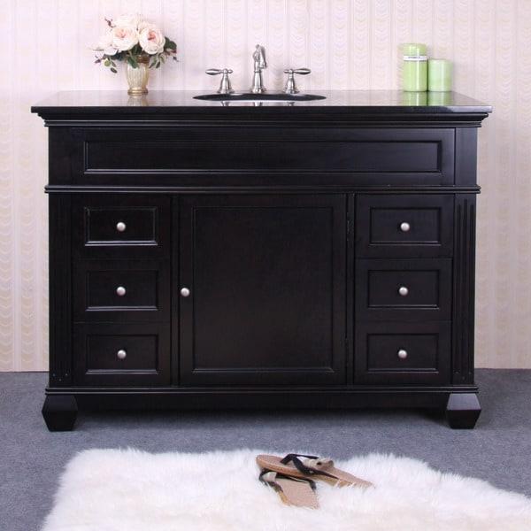 Granite Top 49-inch Single Sink Vanity - 13664634 ...