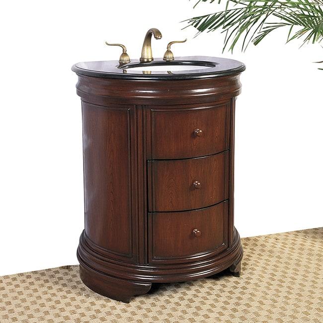 28 Inch Bathroom Vanity With Sink: Granite Top 28-inch Single Sink Vanity