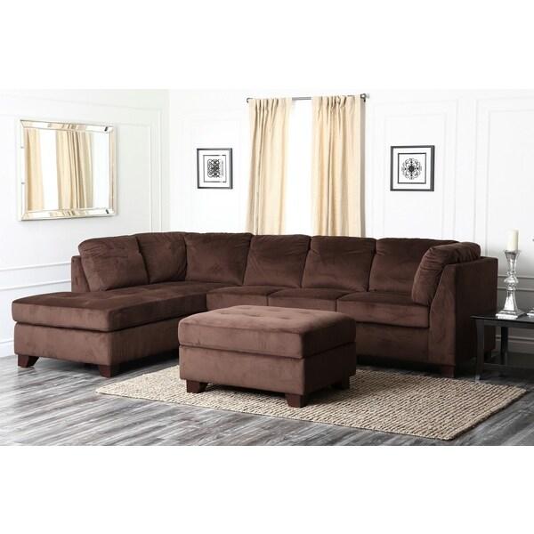 Abbyson Living Delano Sectional Sofa And Storage Ottoman