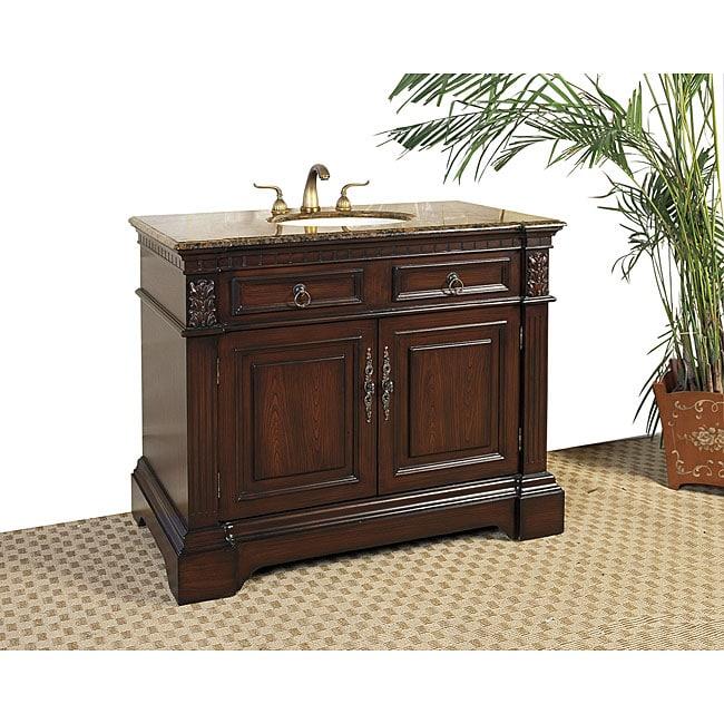 Granite Top 42-inch Single-sink Vanity - 13666354 ...
