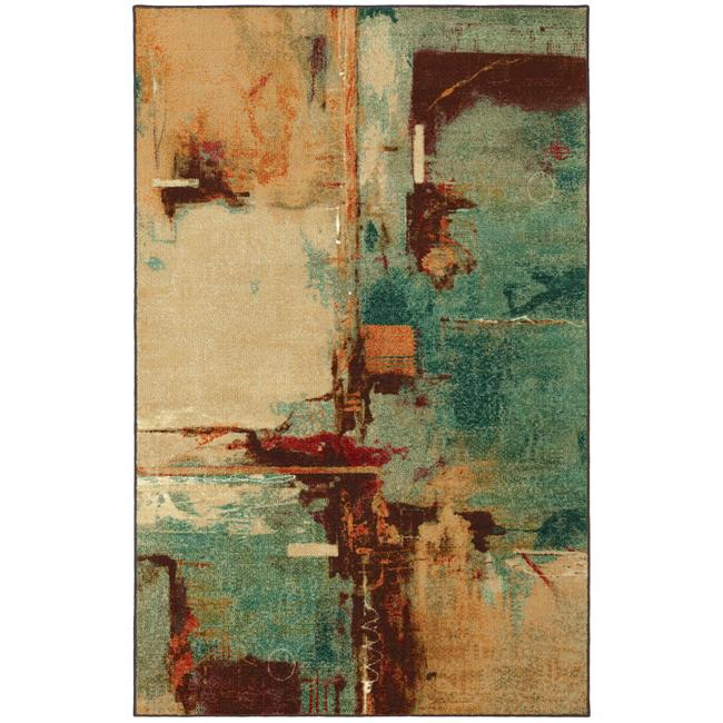Blue Abstract Rug 5 X 8 13672599 Overstock Com