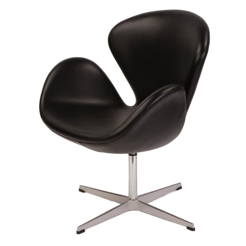 Swan Leather Chair 13673495 Overstock Com Shopping