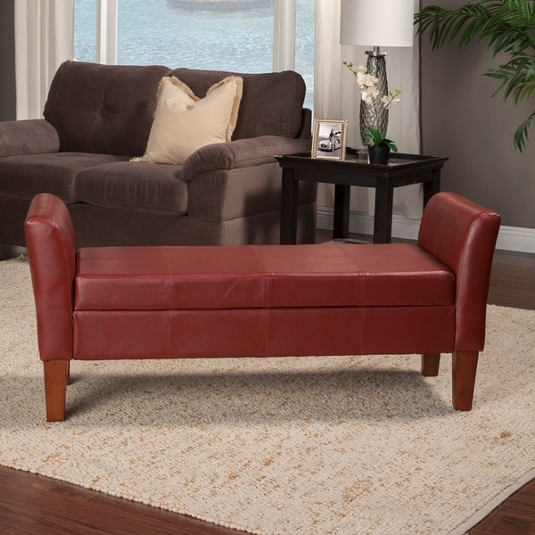 Storage Bench With Curved Arms 13673628 Overstock Com
