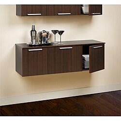 Yaletown Espresso Wall Mounted Hutch 13673770