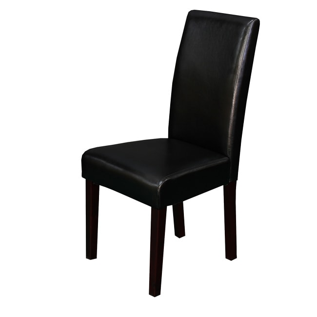 Black Dinning Room Chairs: Villa Faux Leather Black Dining Chairs (Set Of 2