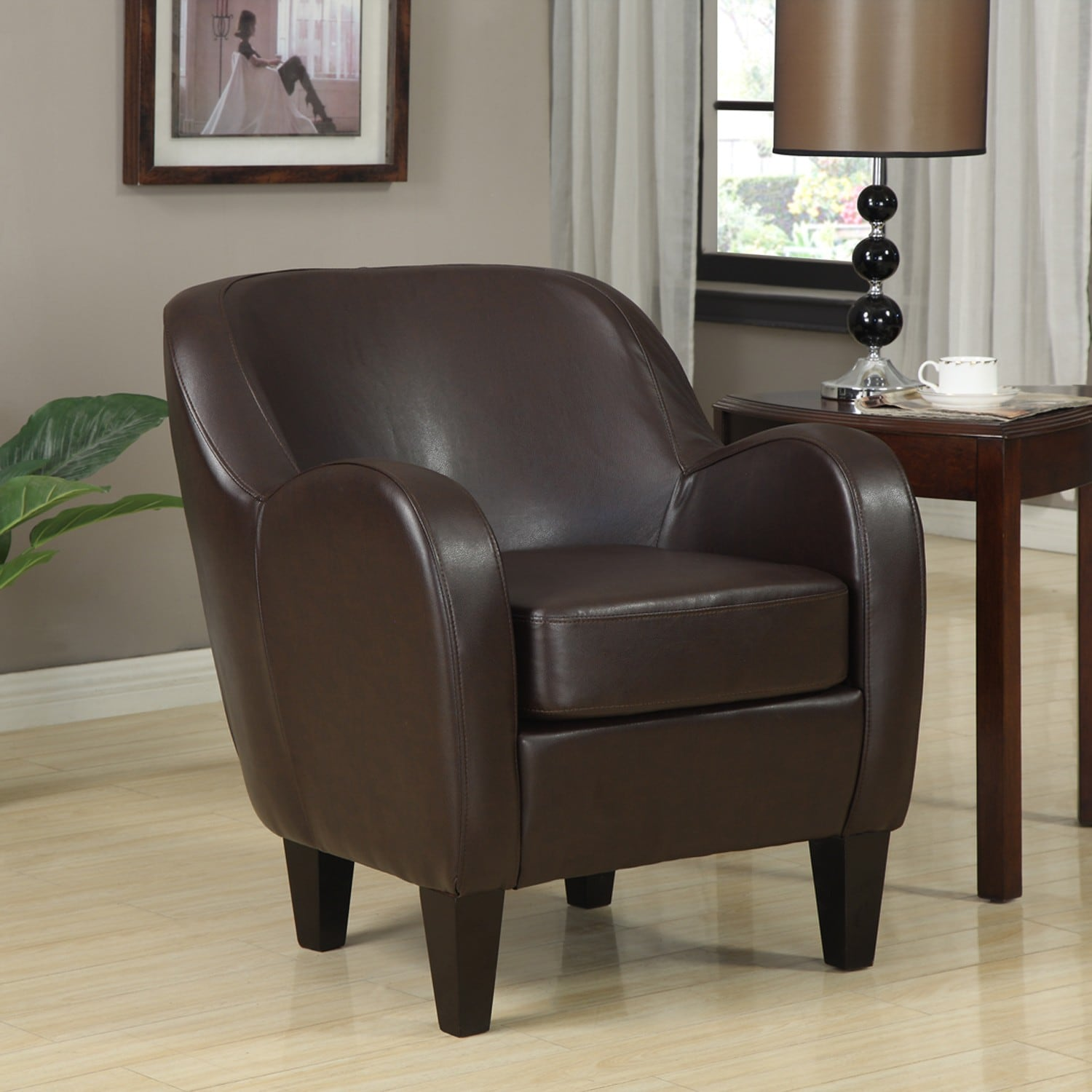 Leather Living Room Set Clearance: Bedford Bonded Leather Chair