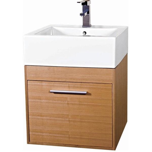 Glamour 20-inch Wood Light Maple/ White Bathroom Vanity ...