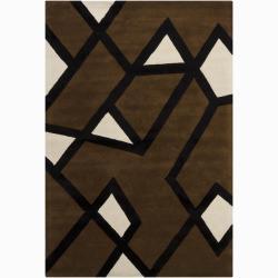 Hand Tufted Twister Wool Rug 6 X 9 12126281