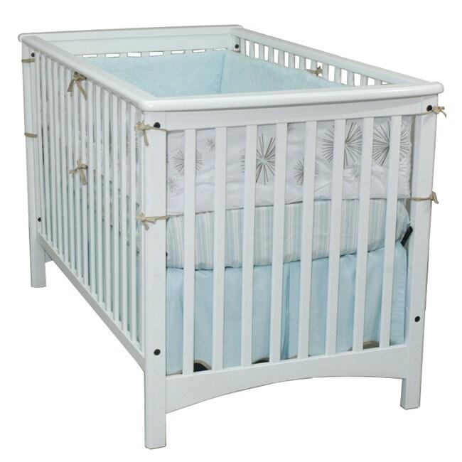 London Euro Style Matte White Stationary Crib 13685561
