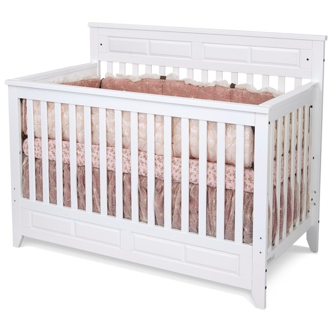 Matte White Logan Lifetime Convertible Crib 13687083