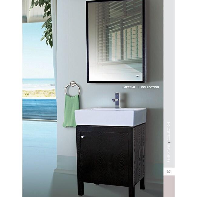 Somette Imperial 23 Inch Wood Black/ White Bathroom Vanity ...