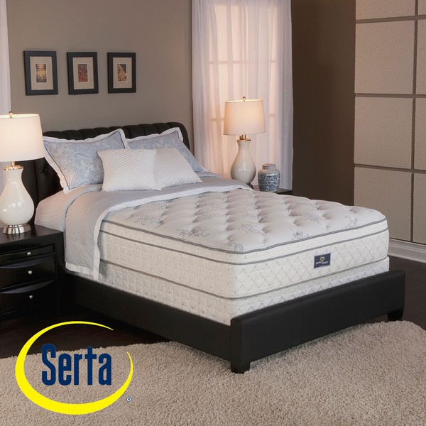 serta perfect sleeper conviction euro top split queen size mattress and box spring set. Black Bedroom Furniture Sets. Home Design Ideas